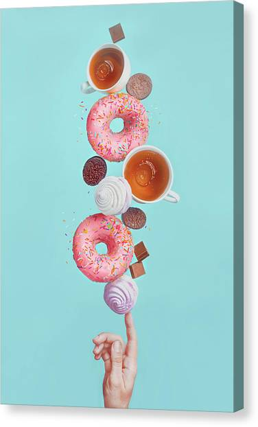 Fingers Canvas Print - Weekend Donuts by Dina Belenko