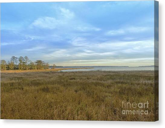 Weeks Bay In Winter Canvas Print by Russell Christie