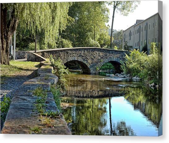 Weeping Willow Bridge Canvas Print