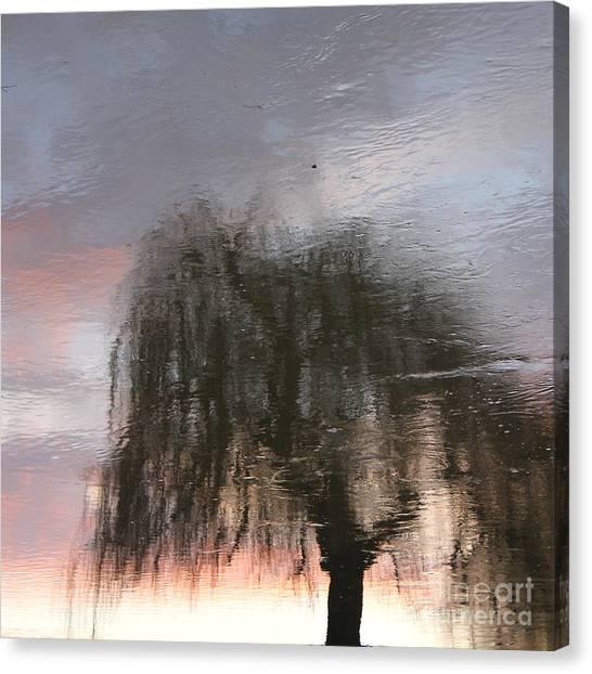 Weeping Willow Canvas Print by Karin Ubeleis-Jones