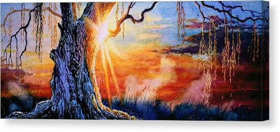 Weeping Willows Canvas Print - Weeping Willow Sighs by Hanne Lore Koehler