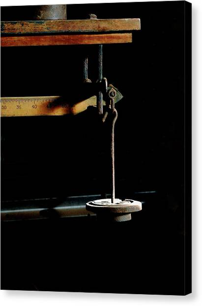 Weighing Value - Vintage Fairbank Scale Canvas Print