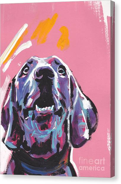 Weimaraners Canvas Print - Weim Me Up by Lea S