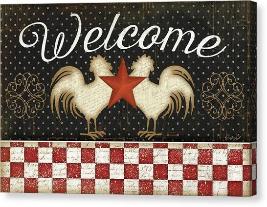 Chicken Farms Canvas Print - Welcome by Jennifer Pugh