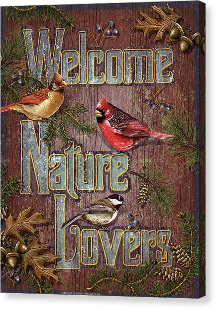 Cardinals Canvas Print - Welcome Nature Lovers 2 by JQ Licensing