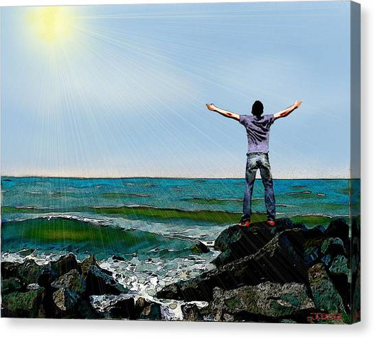 Welcome The Day Canvas Print