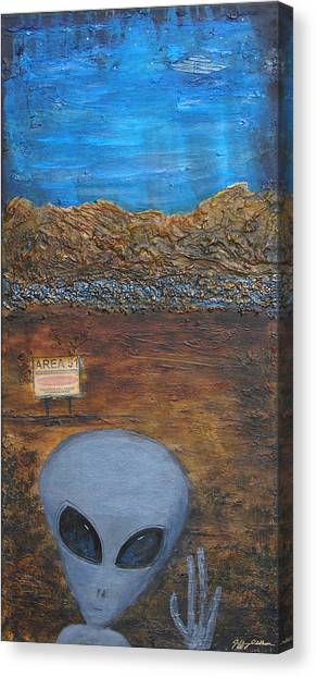 Welcome To Area 51 Canvas Print by Jeffrey Oldham