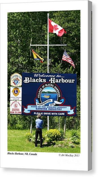 Welcome To Blacks Harbour Canvas Print