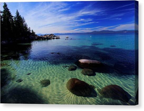 Welcome To Bliss Beach Canvas Print