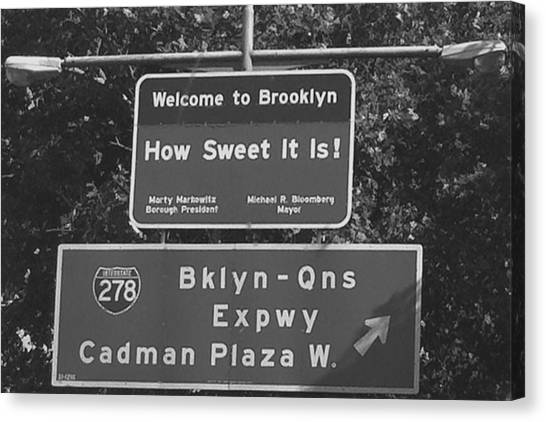 Brooklyn Nets Canvas Print - Welcome To Brooklyn  by We are The James'