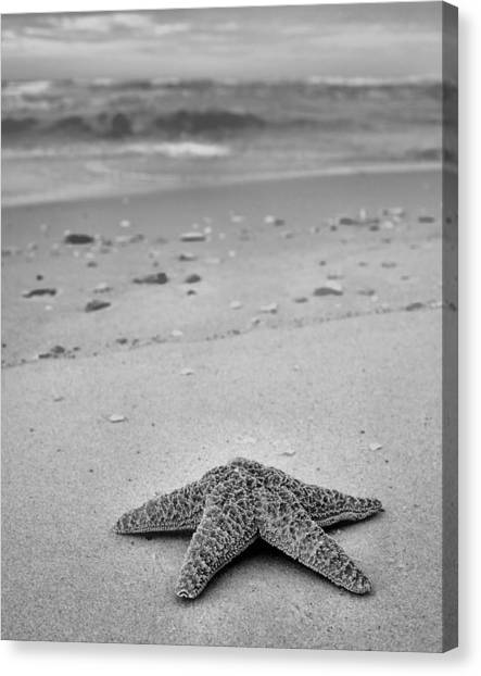 Welcome To Destin Bw Canvas Print by JC Findley