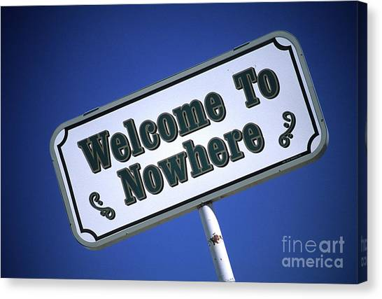 Black Rock Desert Canvas Print - Welcome To Nowhere by Bob Christopher