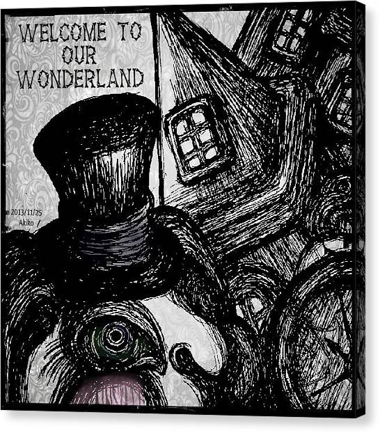 Gothic Art Canvas Print - Welcome To Our Wonderland by Akiko Okabe