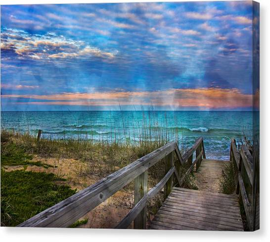 Seagrass Canvas Print - Welcome To Paradise by Betsy Knapp