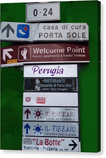 Welcome To Perugia Canvas Print
