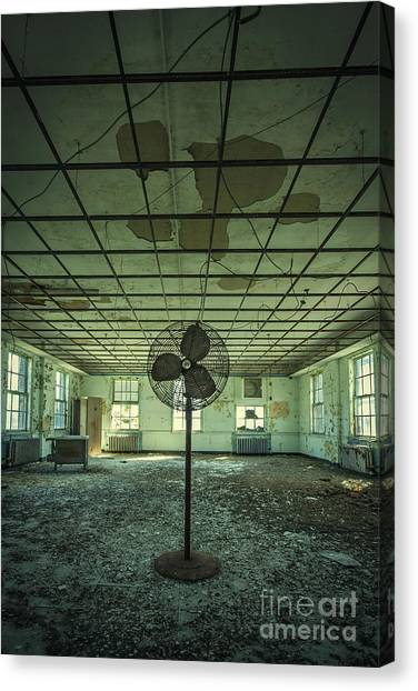 Derelict Canvas Print - Welcome To The Asylum by Evelina Kremsdorf