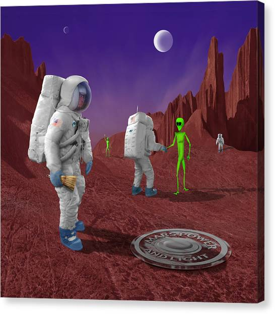 Surrealism Canvas Print - Welcome To The Future by Mike McGlothlen