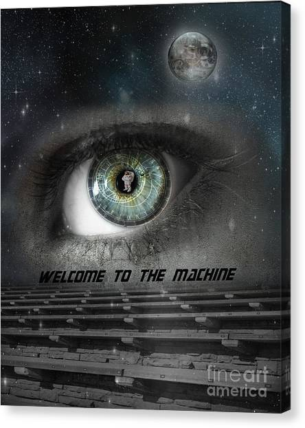 Pink Floyd Canvas Print - Welcome To The Machine by Juli Scalzi