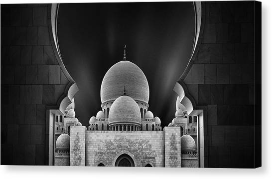 Portal Canvas Print - Welcome To The Mosque by Fred Gramoso