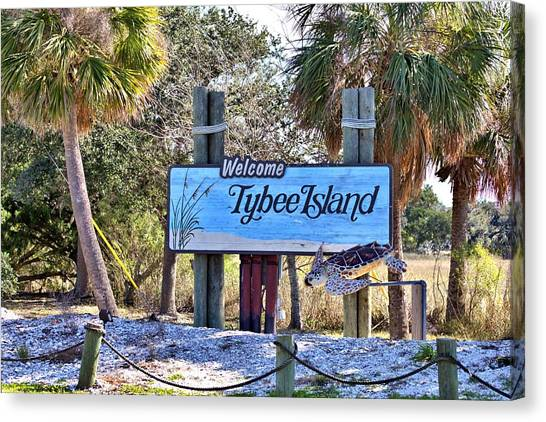 Welcome To Tybee Canvas Print