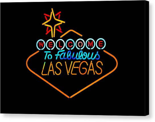 Welcome To Vegas Canvas Print by John Hix