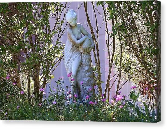 Well Woman Sculpture Canvas Print