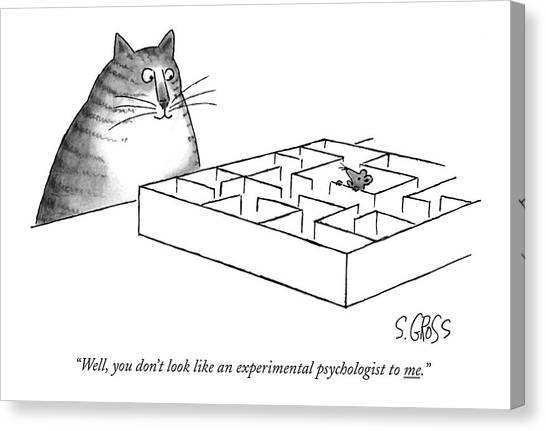 Psychology Canvas Print - Well, You Don't Look Like An Experimental by Sam Gross