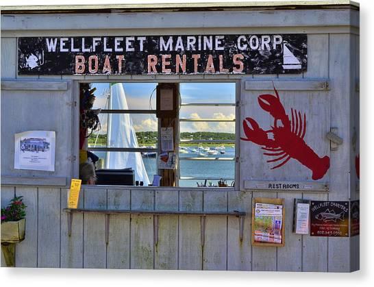 Wellfleet Harbor Thru The Window Canvas Print