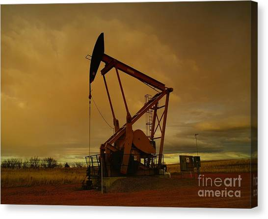 Wellhead At Dusk Canvas Print