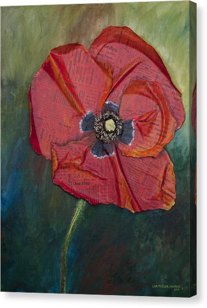 Wellness Poppy Canvas Print