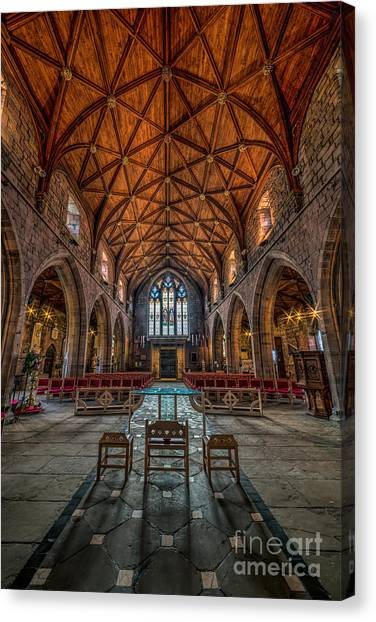 Aisle Canvas Print - Welsh Cathedral  by Adrian Evans