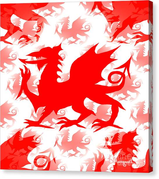 Welsh Dragon Canvas Print