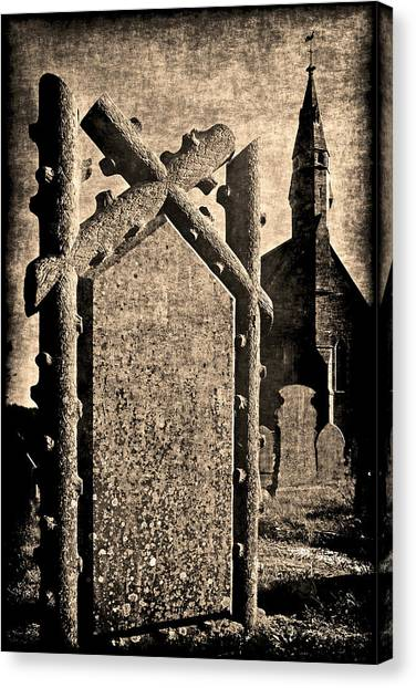 Welsh Graveyard Canvas Print