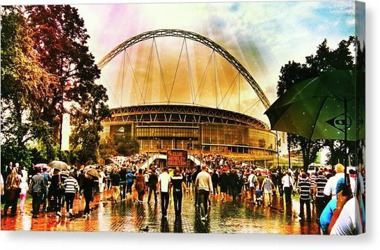 Stadiums Canvas Print - Wembley Way London England by Chris Drake