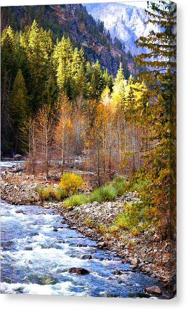 Wenatchee River - Leavenworth - Washington Canvas Print