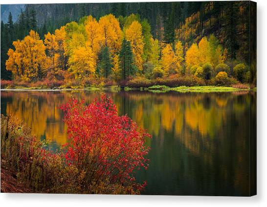 Wenatchee River Reflections Canvas Print