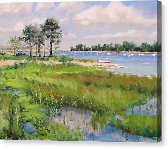 Seagrass Canvas Print - Wentworth By The Sea by Laura Lee Zanghetti