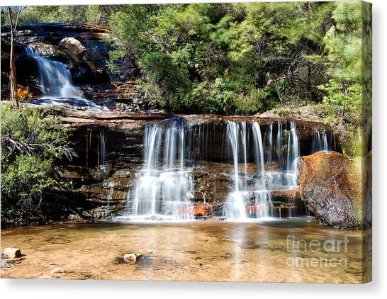 Canvas Print featuring the photograph Wentworth Falls by Yew Kwang