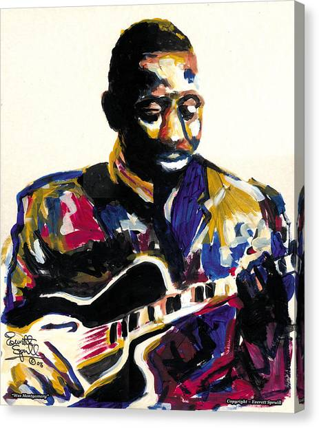 Frank Stella Canvas Print - Wes Montgomery by Everett Spruill