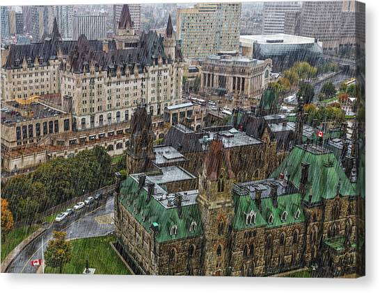 Parliament Hill Canvas Print - West Block Of The Parliament Hill In by John Wang