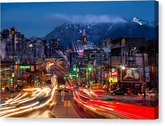 West Broadway And Cambie Canvas Print