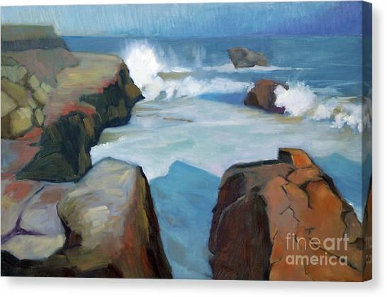 West Cliff Crash Canvas Print