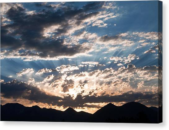 West Elk Mountains Morning Canvas Print