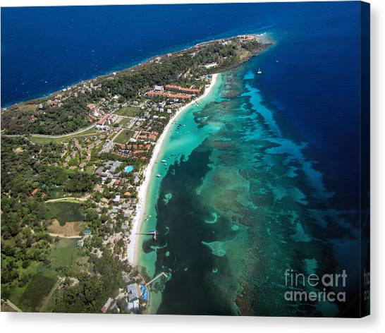 West End Roatan Honduras Canvas Print