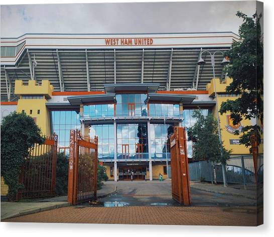 West Ham United Fc Canvas Print - West Ham by Marek Musial