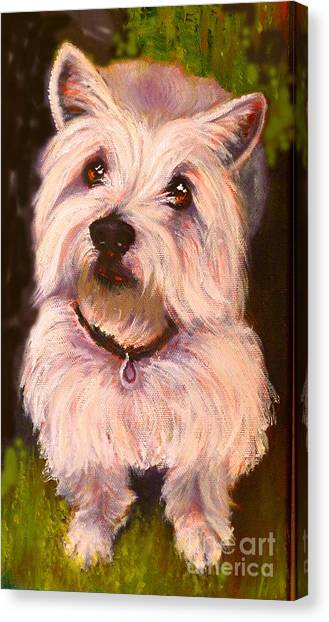 West Highland Terrier Reporting For Duty Canvas Print