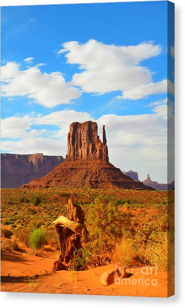 West Mitten At Monument Valley Canvas Print