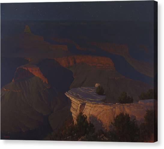 Canyon Canvas Print - West Moon Grand Canyon by Cody DeLong