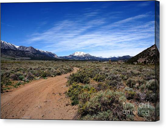 West Of The Sierra Nevada  Canvas Print
