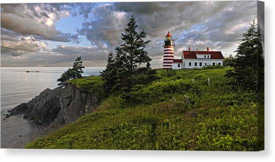West Quoddy Head Lighthouse Panorama Canvas Print